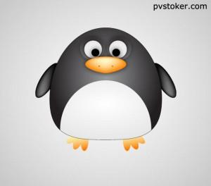 забавный пингвин в иллюстраторе
