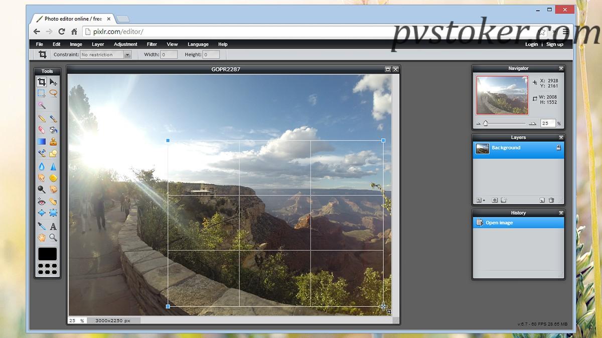 Pixlr как сделать фон прозрачным