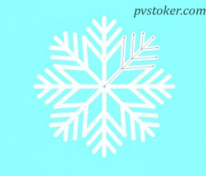 как нарисовать снежинку в Illustrator