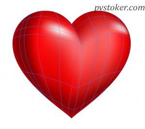 как разукрасить сердце в иллюстраторе