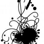 Рисуем на графическом планшете: узорная клякса