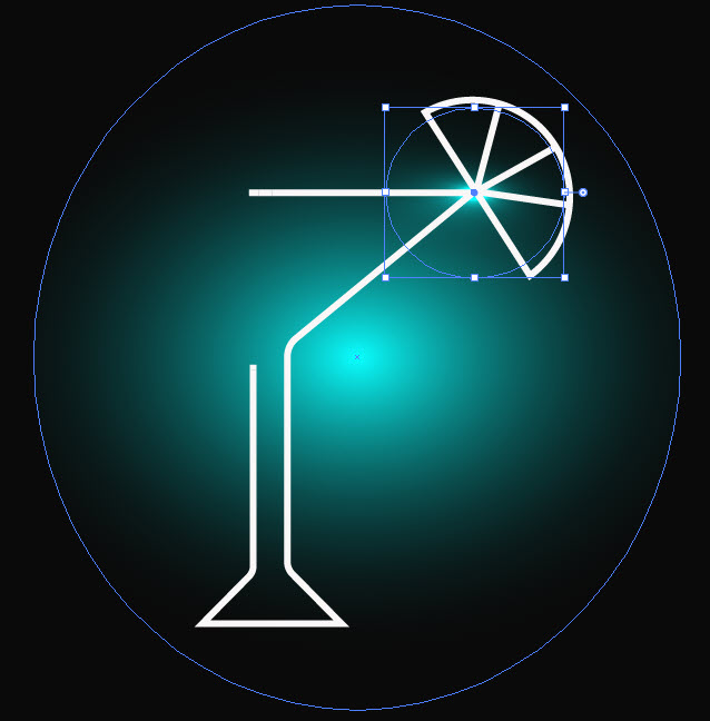 Создание бокала с эффектом брызг шаг 7