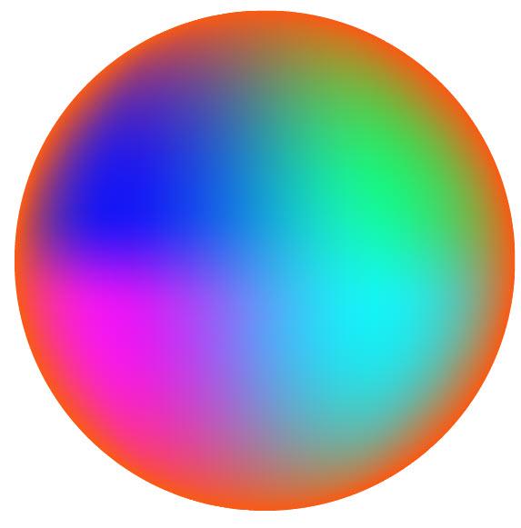 Как создать красочный градиентный шар шаг 3