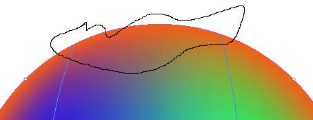 Как создать красочный градиентный шар шаг 4