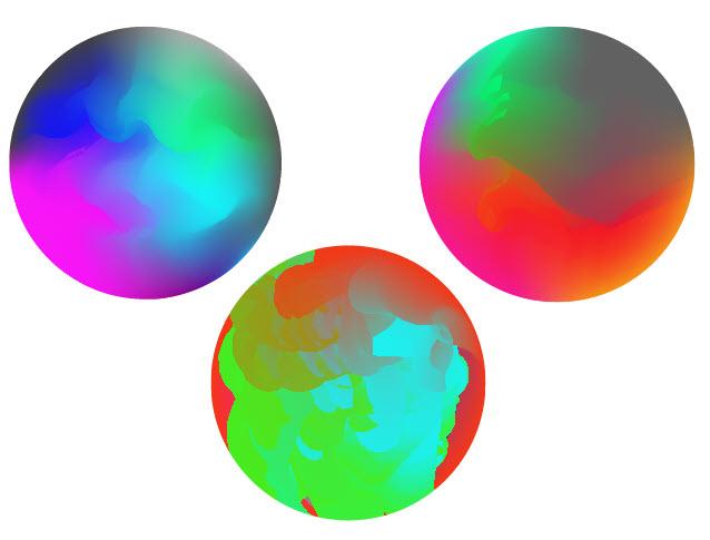 Как создать красочный градиентный шар