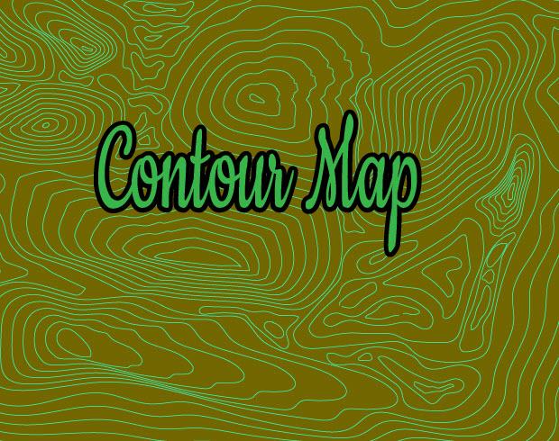Создаем эффект контурной карты