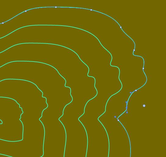 Создаем эффект контурной карты шаг 4