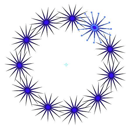 Как создать симметричные объекты шаг 2
