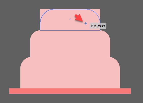 Как создать праздничный торт шаг 2