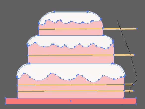 Как создать праздничный торт шаг 8