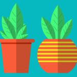 Как создать растения в горшочке в иллюстраторе