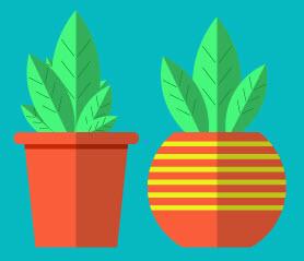 Как создать растения в горшочке