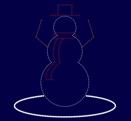 Как создать снеговика из точек