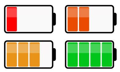 Создаем уровень заряда батареи
