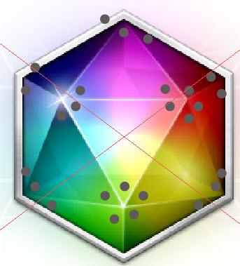 Создаем драгоценный камень из многоугольника шаг 5