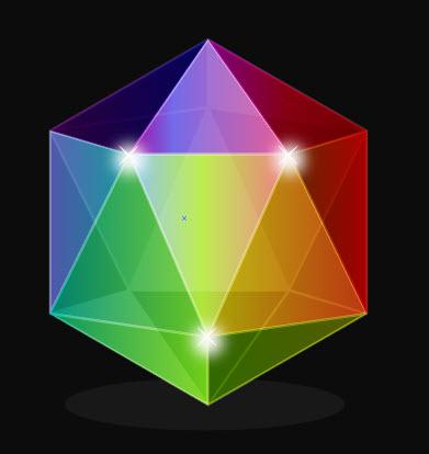 Создаем драгоценный камень из многоугольника
