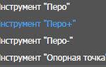 """Инструмент """"Перо+"""""""